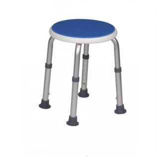 Taburete para baño   Hasta 100 kg   Forma redonda   Azul