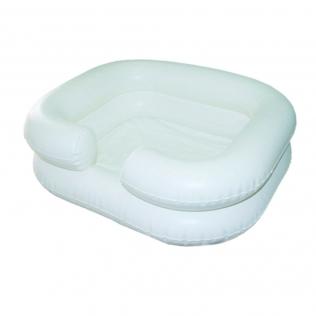 Lavacabezas hinchable | Con tubo de drenaje | Blanco | Teja | Mobiclinic